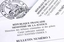 Extrait de casier judiciaire